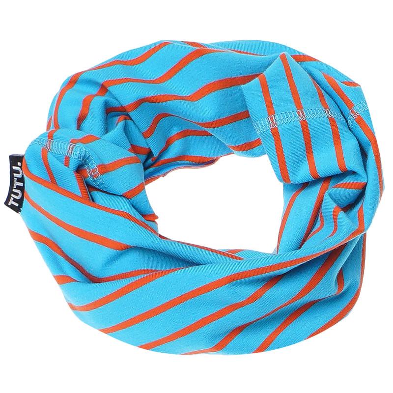 Fular în dungi albastru-portocaliu deschis  100213