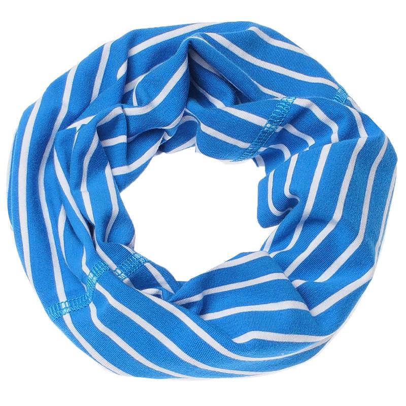 Fular cu dungi albastru deschis și alb  100228
