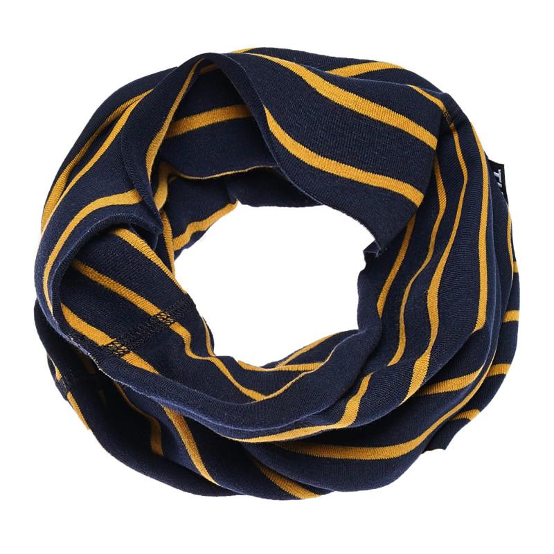 Fular cu dungi unisex, în culoare albastru-galben  100258