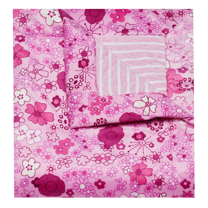 Pătură de calitate cu design floral  100338