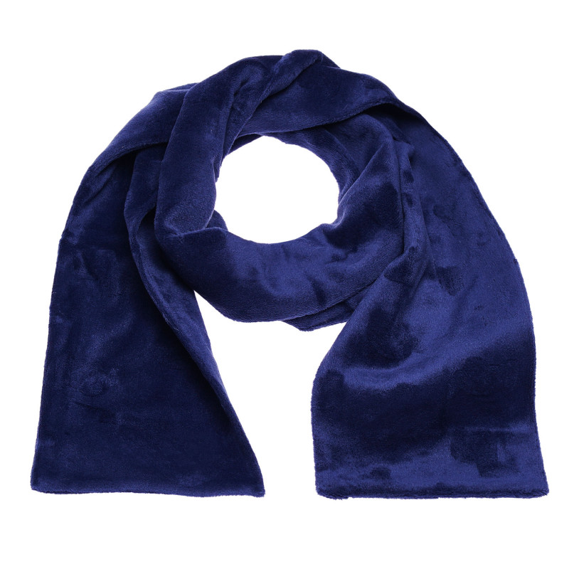 Fular de pluș albastru închis, din țesătură de calitate superioară, pentru un băieți  100411