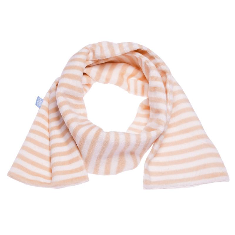 Fular de pluș de culoare bej, din material textil de înaltă calitate pentru fete  100423