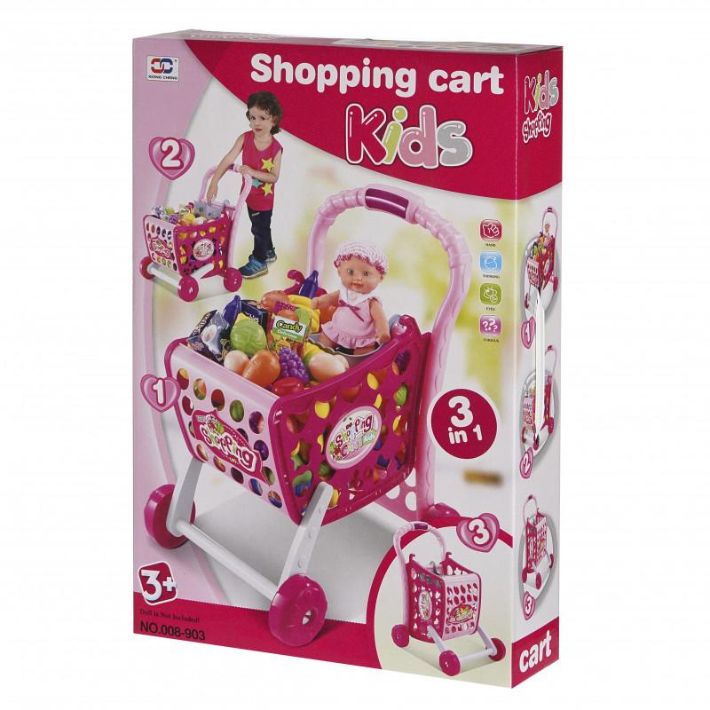 Coș de cumpărături cu produse, serie Coș de cumpărături pentru copii  100586