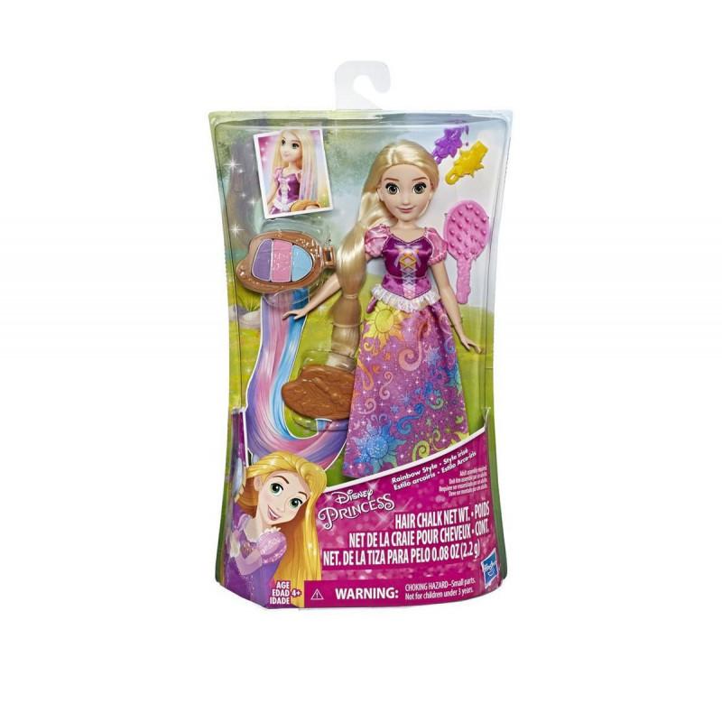 Disney Princess - Rapunzel cu păr în culorile curcubeului, pentru fete  101852