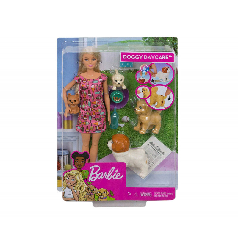 Set de papuși Barbie cu 4 pui, pentru fete  101931