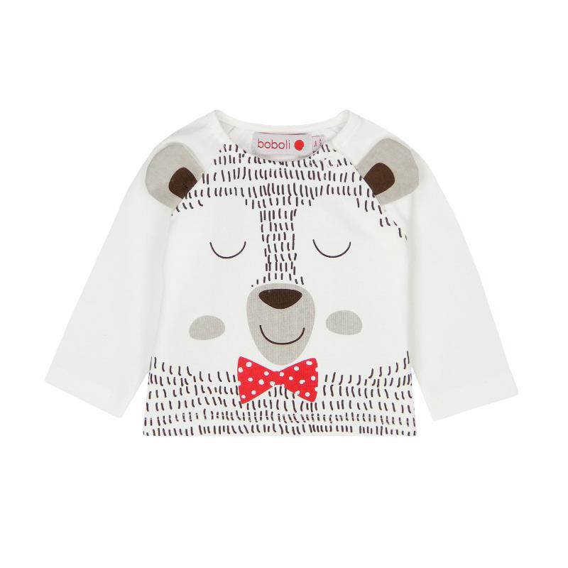Bluză din bumbac cu mâneci lungi și imprimeu vesel pentru bebeluși - unisex  102