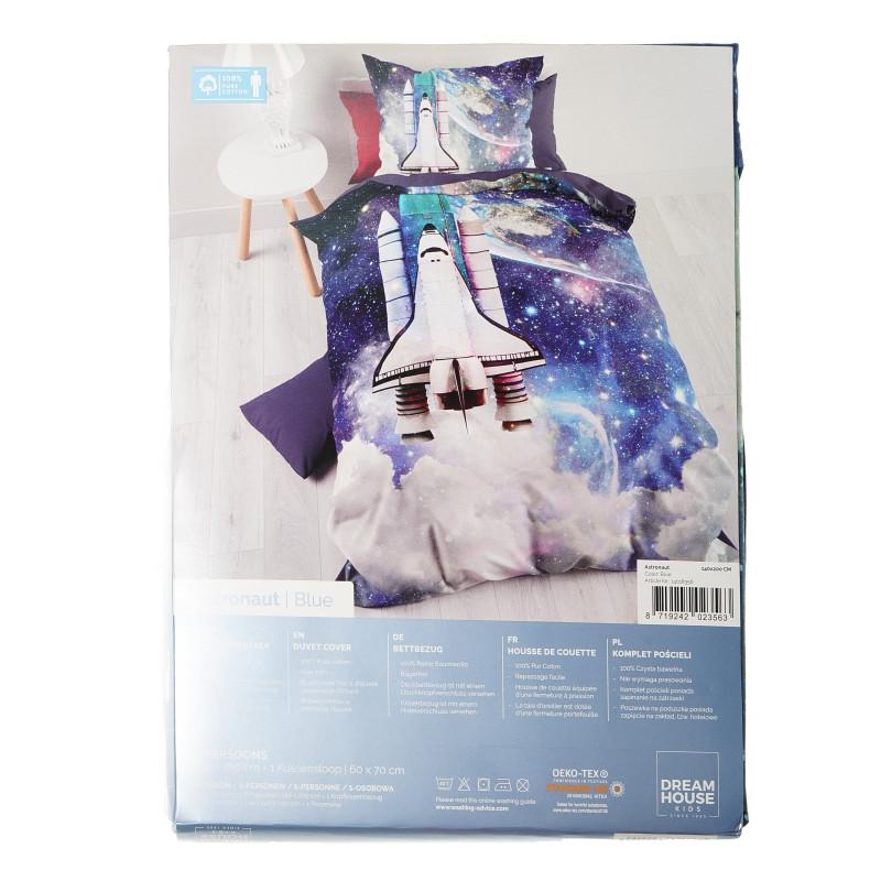 Set de lenjerie de pat Albastru Astronaut din 2 piese  102204