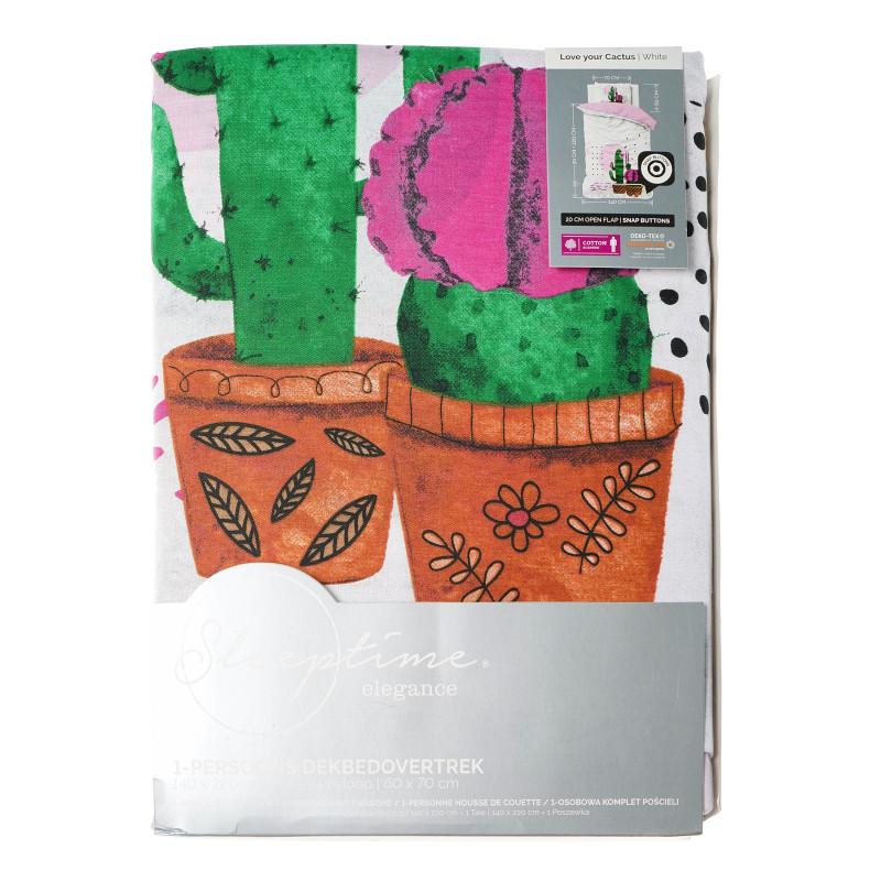 Set de lenjerie de pat din 2 piese Love your Cactus  102212