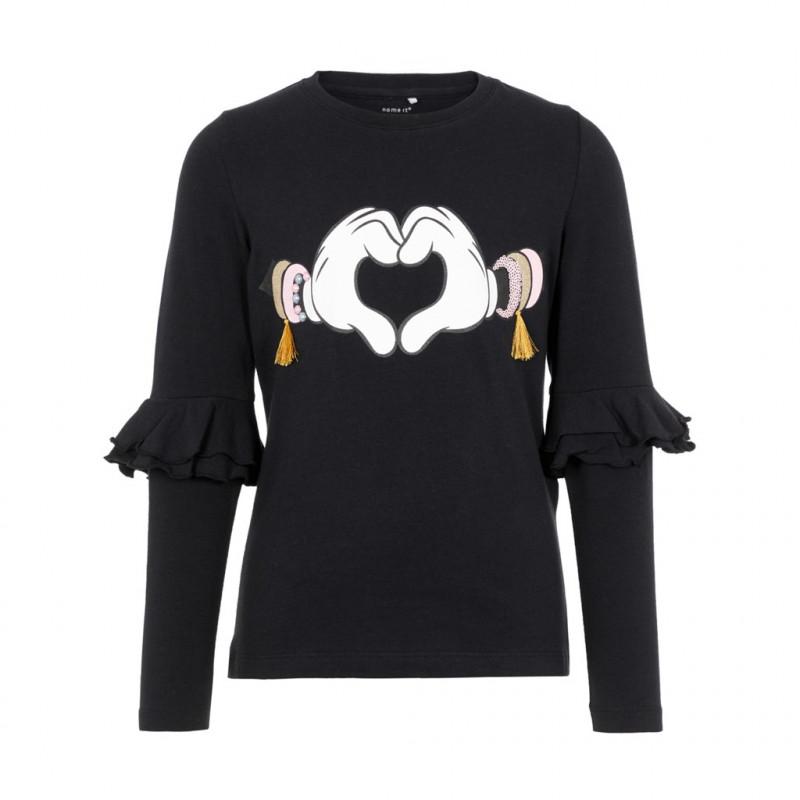 Bluză din bumbac cu mâneci lungi din bumbac pentru fete  102366