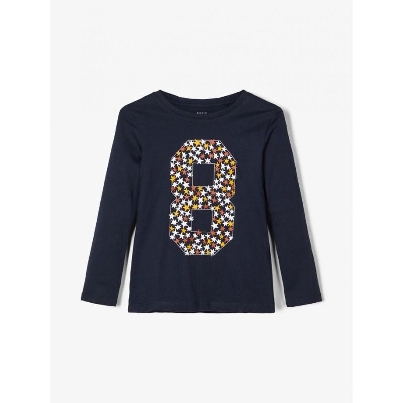 Bluză de bumbac cu mâneci lungi, cu imprimeu 8  102518