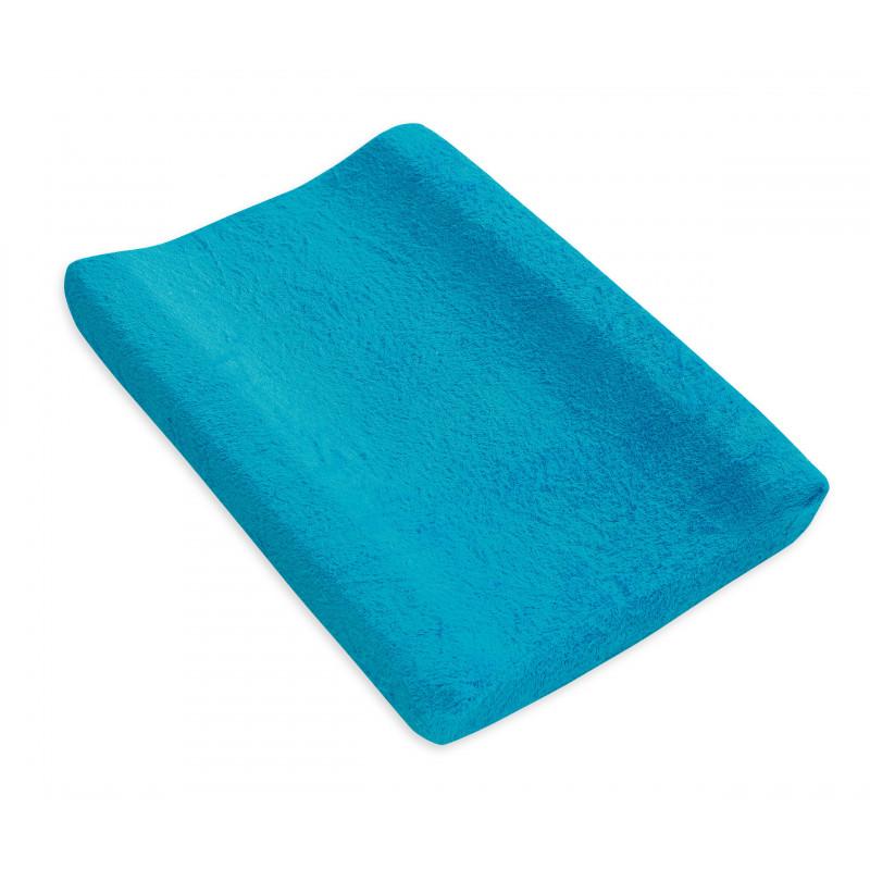 Protector plușat cu elastic, albastru  102686