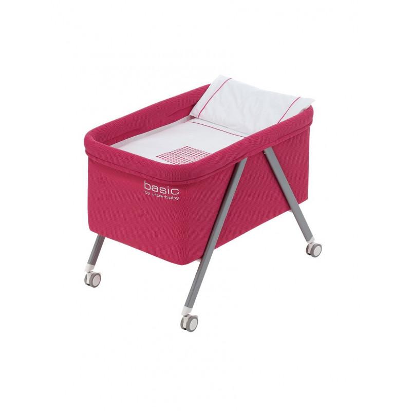 Pătuț pliant de culoare roz cu rama din aluminiu  102691