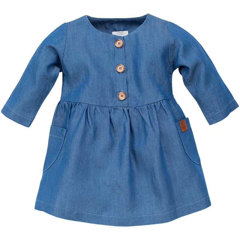 Rochie din bumbac cu mâneci lungi pentru copii  102877