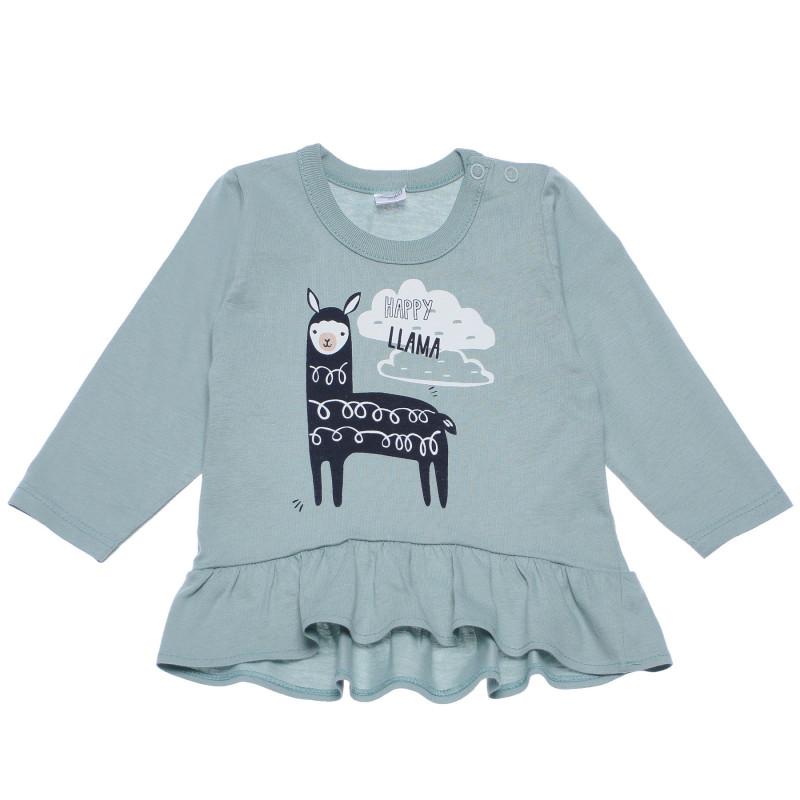 Bluză cu mâneci lungi cu imprimeu din bumbac pentru bebeluși  102878