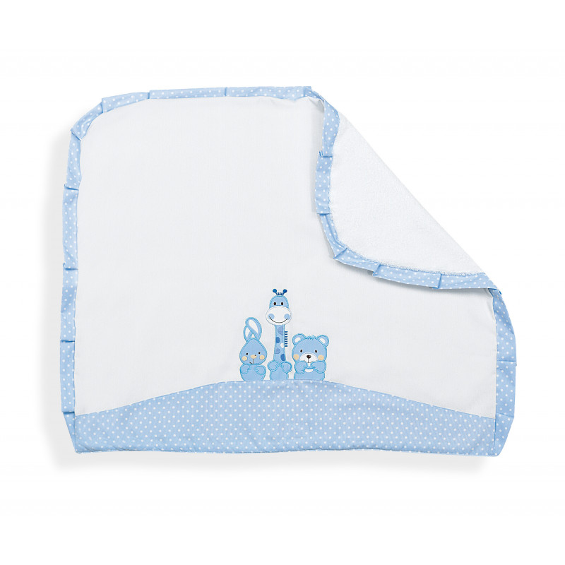 Pătură pentru bebeluși cu margini albastre  102911