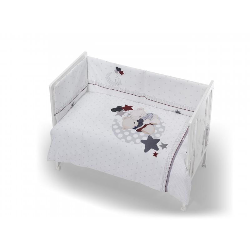 Set de dormitor, de culoare albă, format din 3 piese  102946
