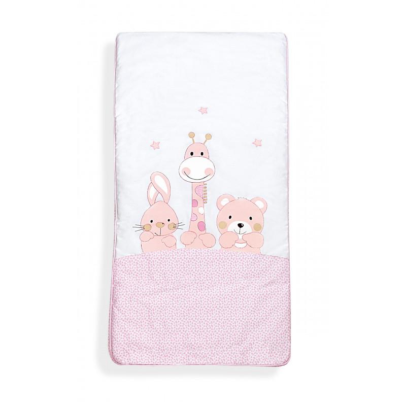 Set de dormit 3 piese roz, confecționat din bumbac 100% pentru fete  102965
