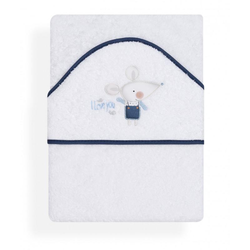 Prosop pentru copii, cu margine albastră și aplicație șoarece  103168