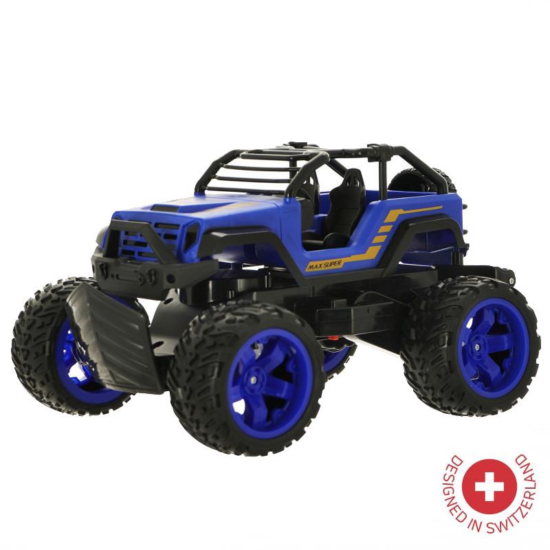 Jeep ZIZITO Max Sliper cu telecomandă radio  de culoare albastră  103486