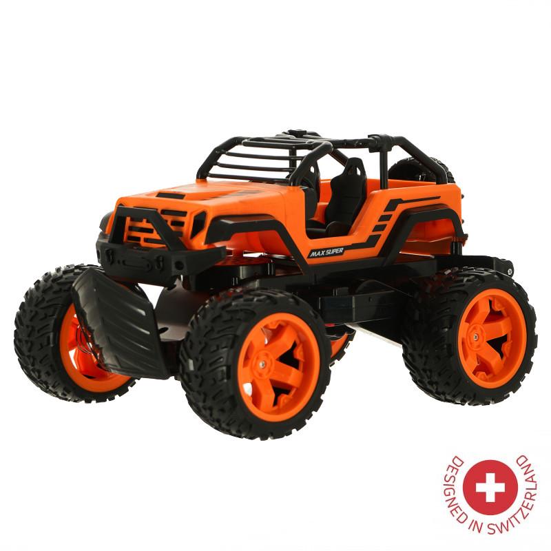 Jeep ZIZITO Sliper Max cu telecomandă radio de culoare portocalie  103488