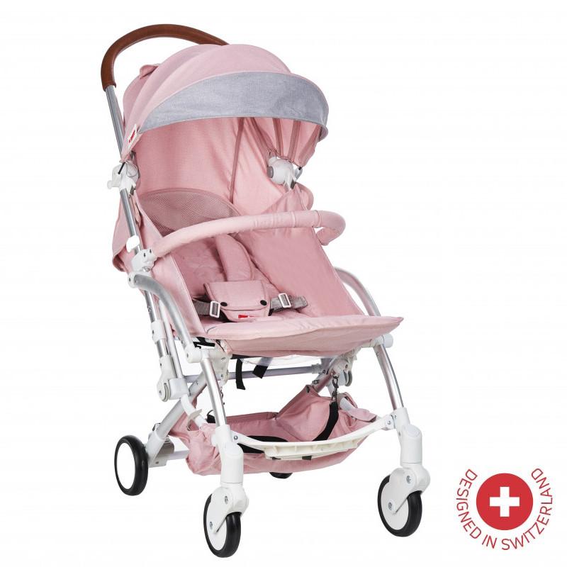Cărucior pentru copii Zizito Fortuna de construcție și design elvețian, de culoare roz  103490