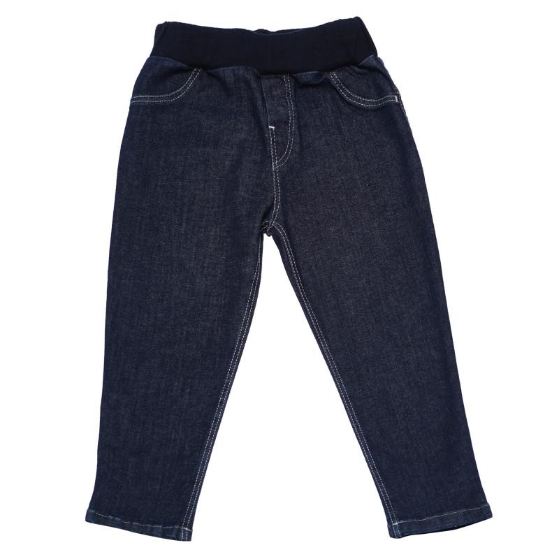 Pantaloni de blugi pentru copii cu iepuras brodat  103528