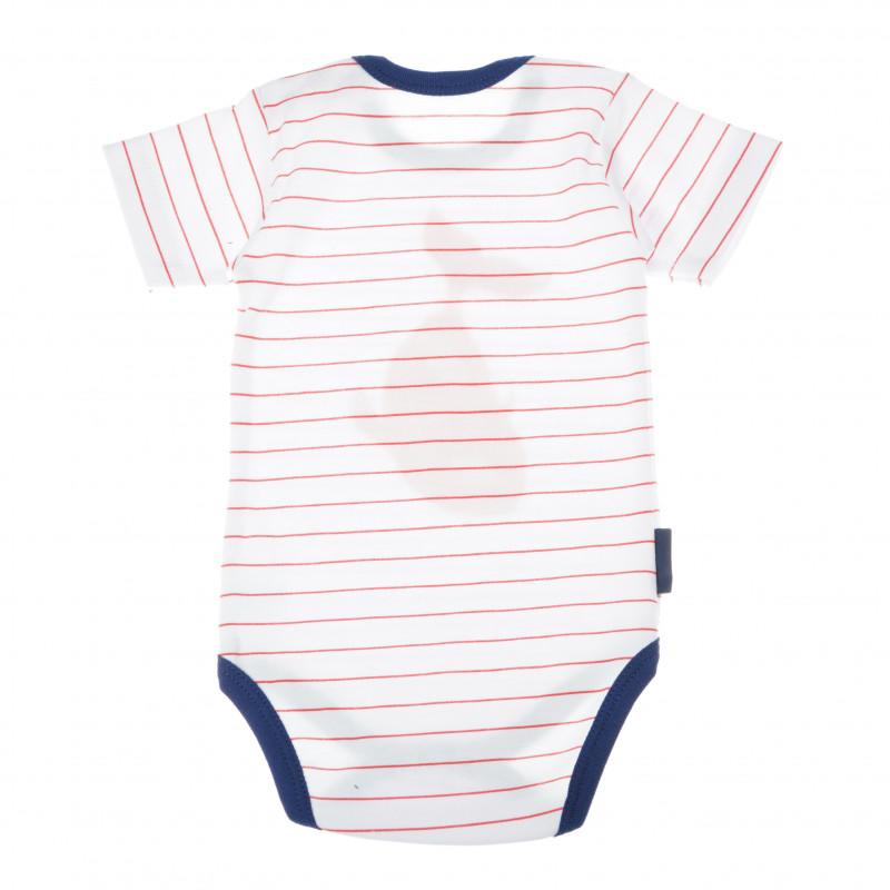 Costum de bumbac cu mâneci scurte și decolteu oval pentru bebeluș - unisex  104763