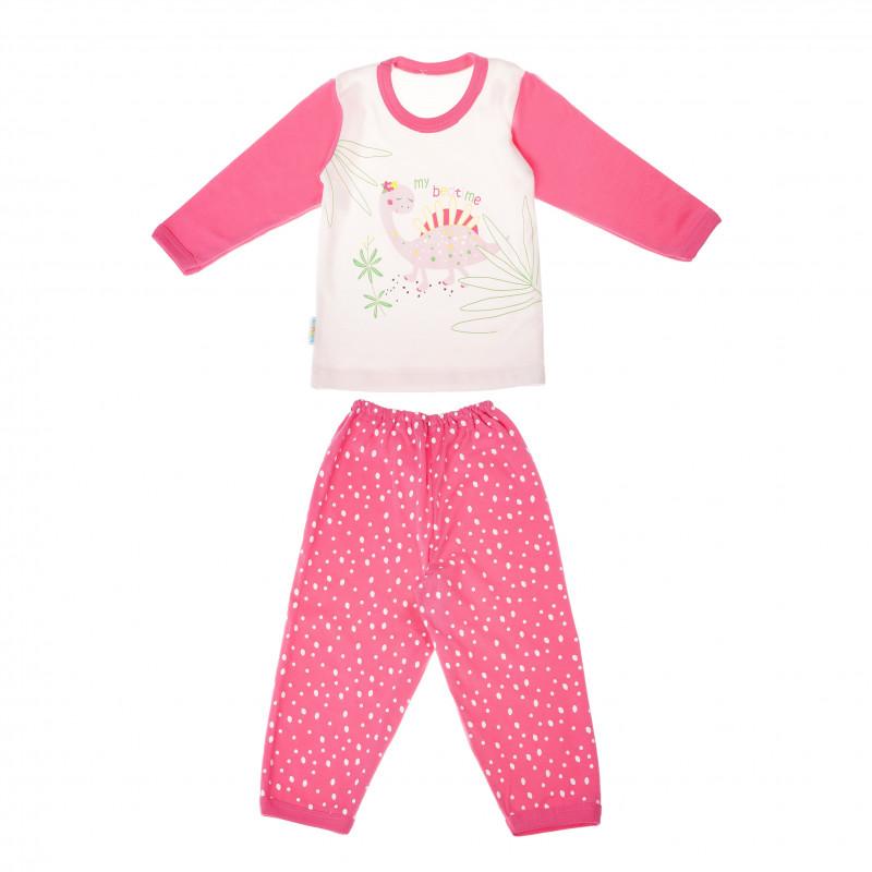 Pijamale de bumbac cu un imprimeu frumos pentru fete  104851