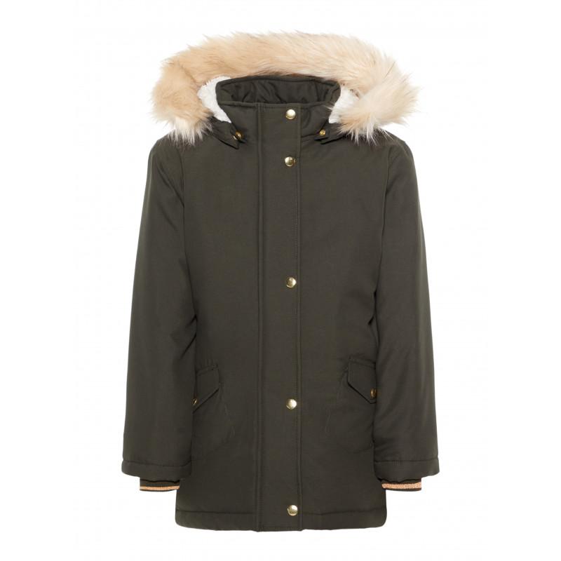 Jacheta pentru fete de culoare verde  105346