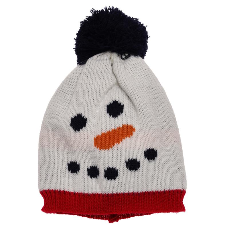 Căciulă cu imprimeu om de zăpadă  106421