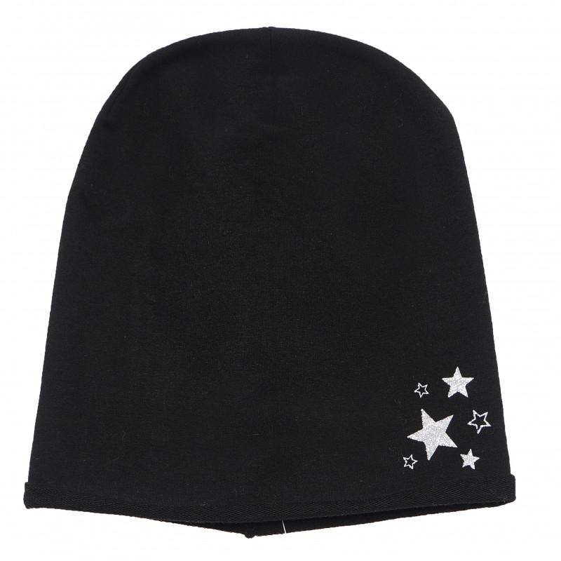 Fes de bumbac pentru băieți, cu decor steluță  106494