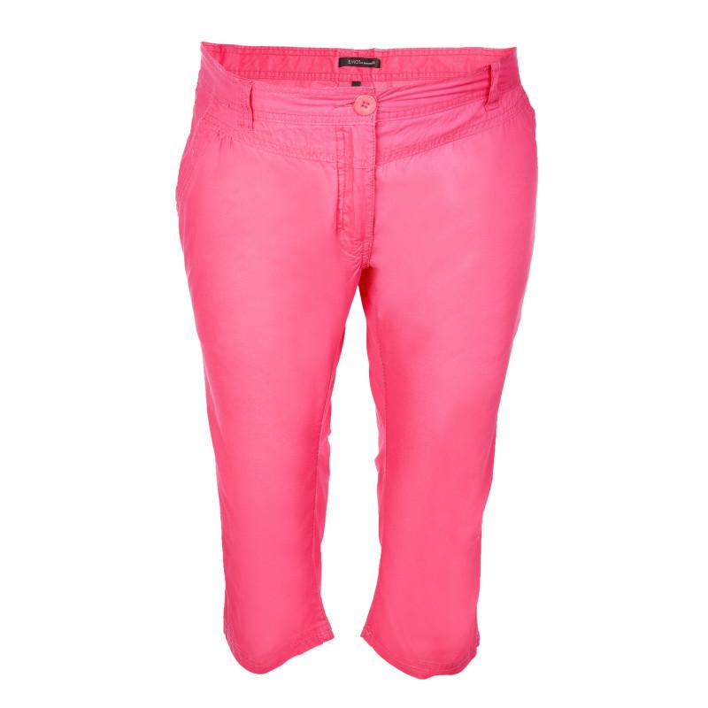 Pantaloni de maternitate capri din bumbac, roz  106953