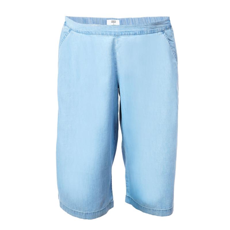 Pantaloni scurți din bumbac de culoare albastră pentru gravide  106980