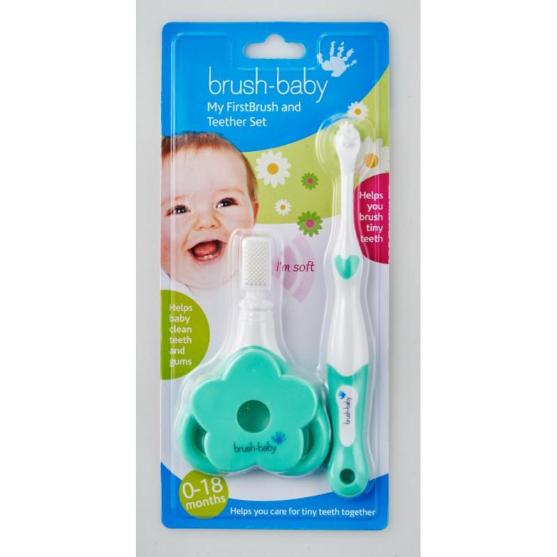 Primul set de periuță și jucărie dentiție, 0-24 luni  107094