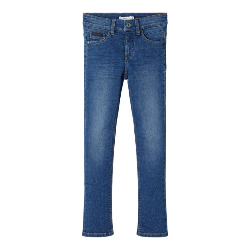 Jeans slim, albaștri pentru băieți  107492