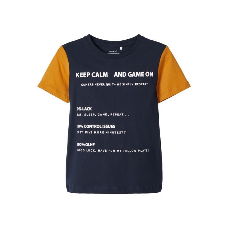 Tricou albastru închis, pentru băieți  107518