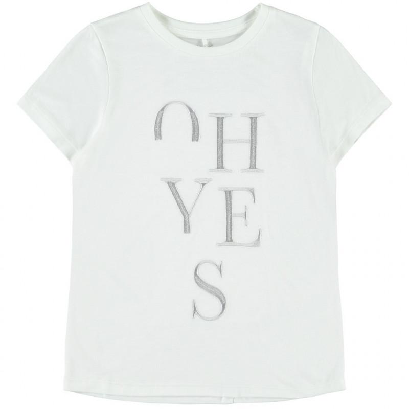 Bluză brodată, albă pentru fete  107545