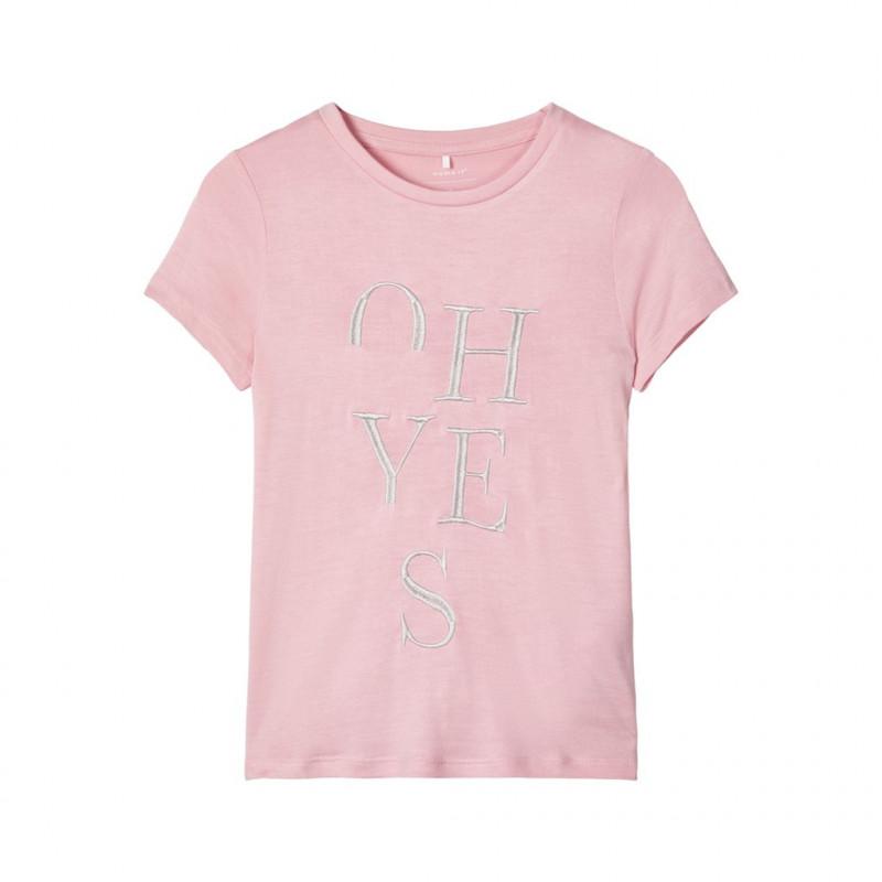 Bluză brodată, roz pentru fete  107546