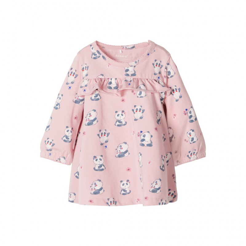 Tunică cu mânecă lungă pentru fetițe, roz  107564