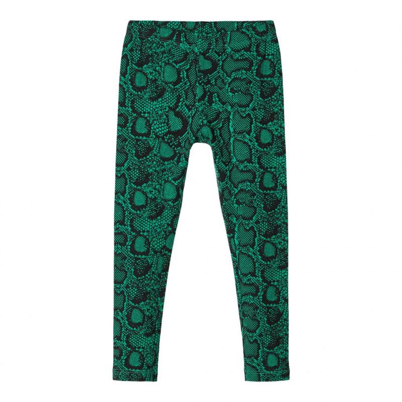 Leggings verzi, din bumbac organic cu imprimeu, pentru fete  107591