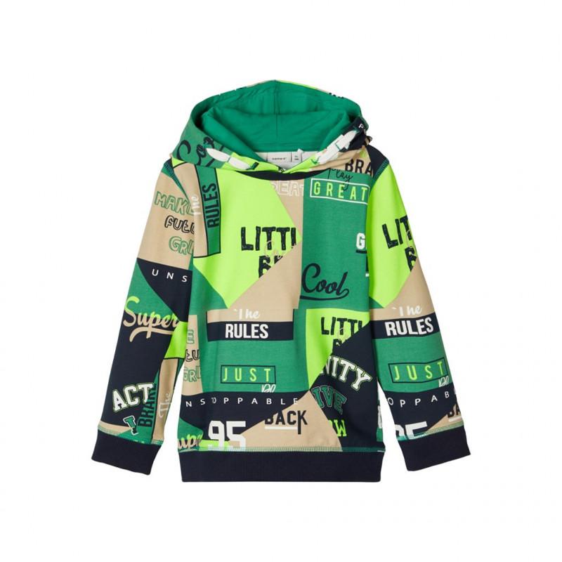 Hanorac verde din bumbac organic, pentru băieți  107634