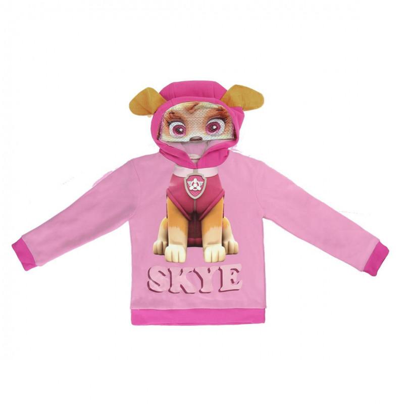 Pulover Skye cu glugă pentru fete, de culoare roz  1106