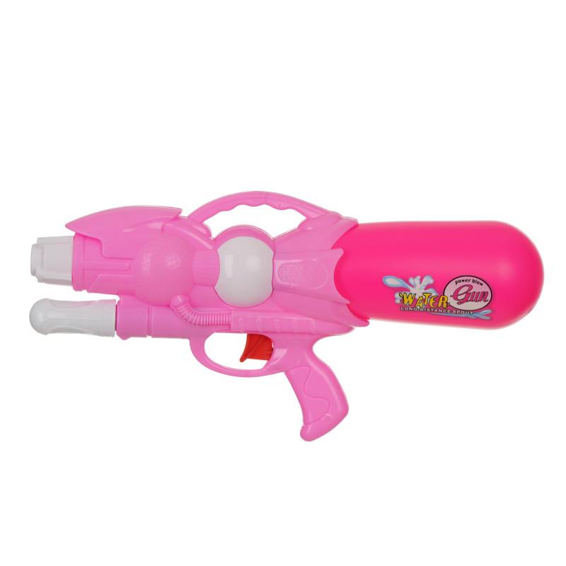 Pistol de apă cu pompă, roz - 33 cm  115398