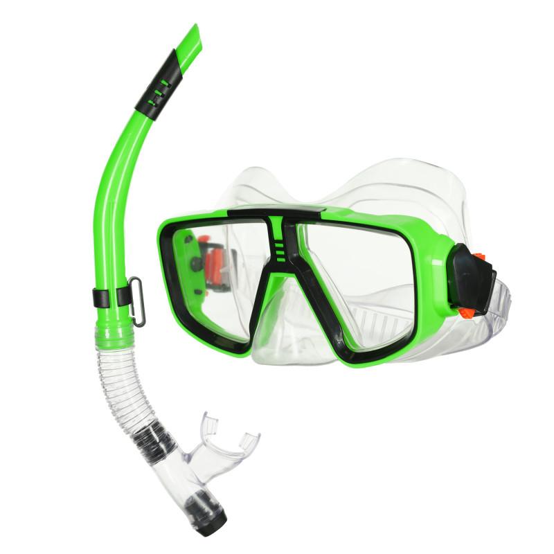 Set mască și snorkel, verde  116109