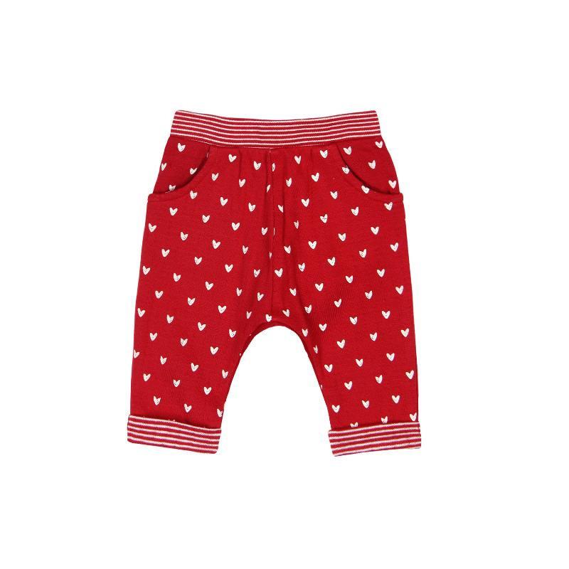 Pantaloni pentru fetițe Boboli cu un imprimeu cu inimioare  118