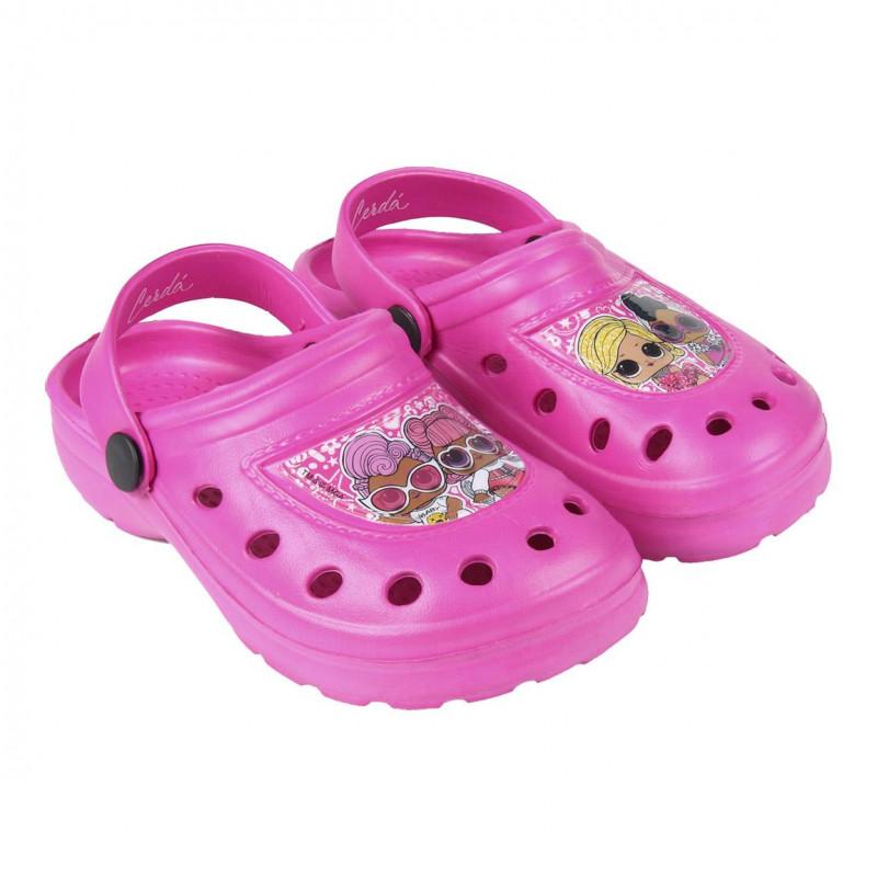 Papuci cu imprimeu Lol pentru fete  119007