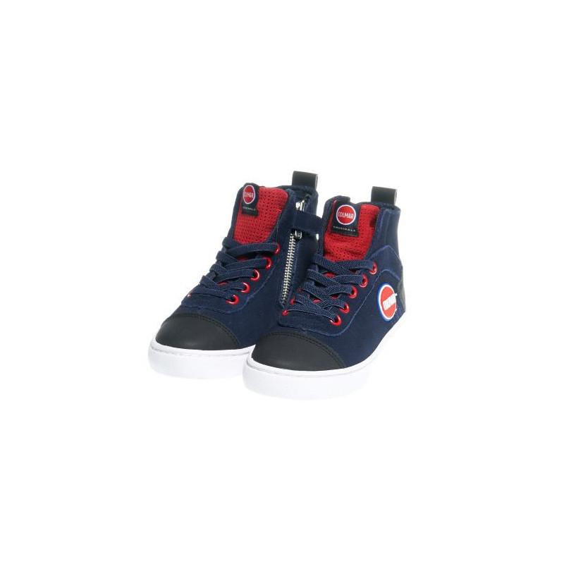 Încălțăminte sport înaltă pentru băieți cu fermoar, albastră  12399