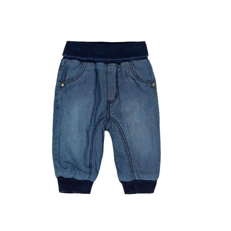 Pantaloni din denim cu manșete elastice albaștri închis pentru băieți  130