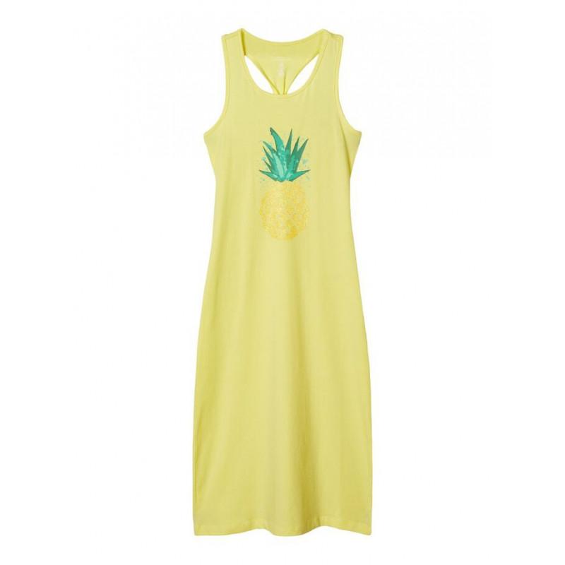 Rochie lungă din bumbac organic pentru fete, galben  150284