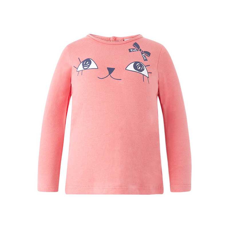 Bluză cu mâneci lungi pentru fete, cu design nostim  1635